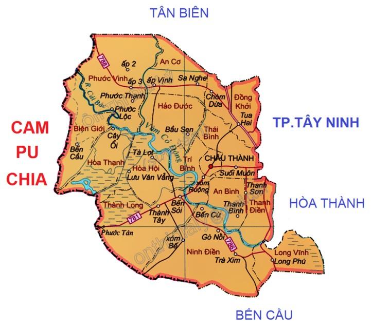 Bản đồ tỉnh Tây Ninh